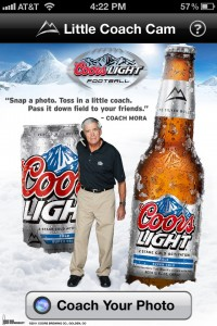 Coors Light Little Coach Cam iPhone App