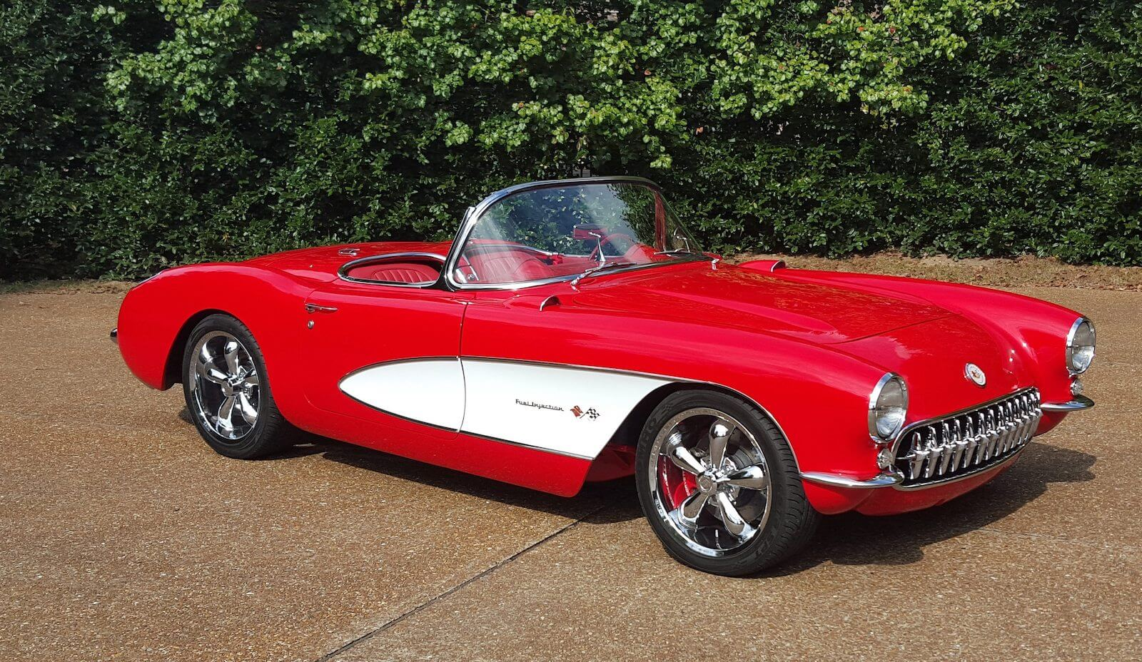 1956 Red Corvette Convertible