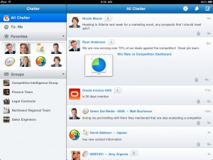 Salesforce Chatter iPad App