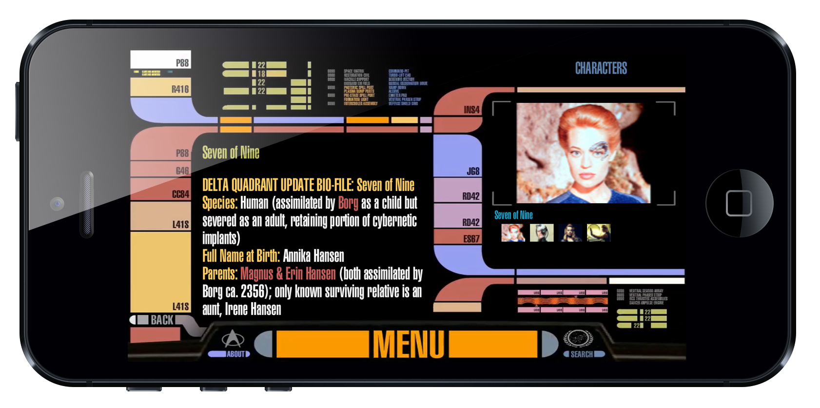 Star trek padd app version 2 arctouch - Lcars ipad app ...