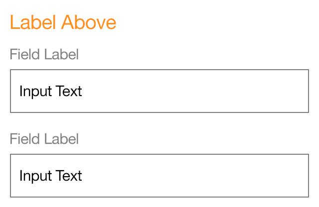 form design label above