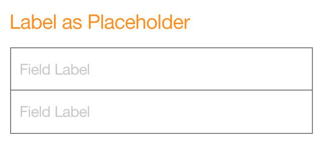 form design label placeholder