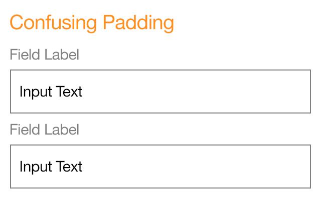 form design padding confusion