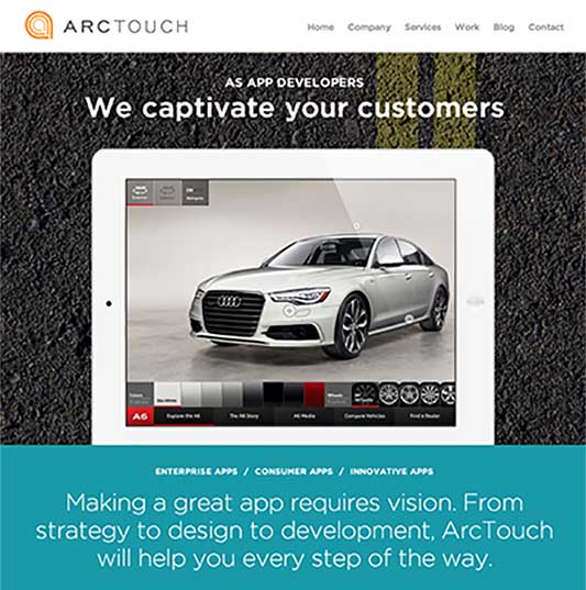 ArcTouch.com Homepage - 2014