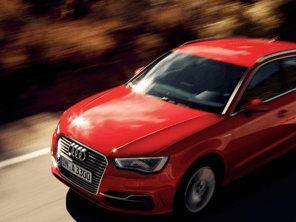 Red Audi A6 moving fast