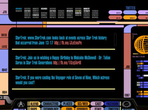 Episode guide from CBS Star Trek PADD app