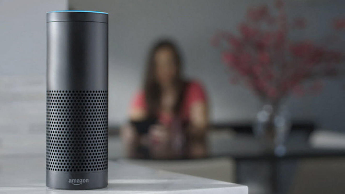 Amazon Echo in living room with 3M Filtrete Alexa skill by ArcTouch