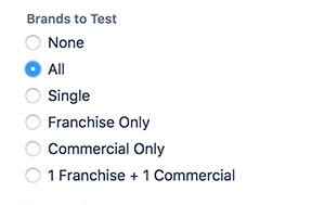 QA test white label app brands
