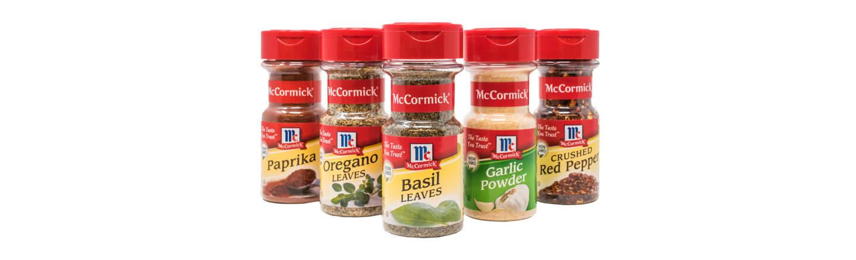 McCormick spice bottles