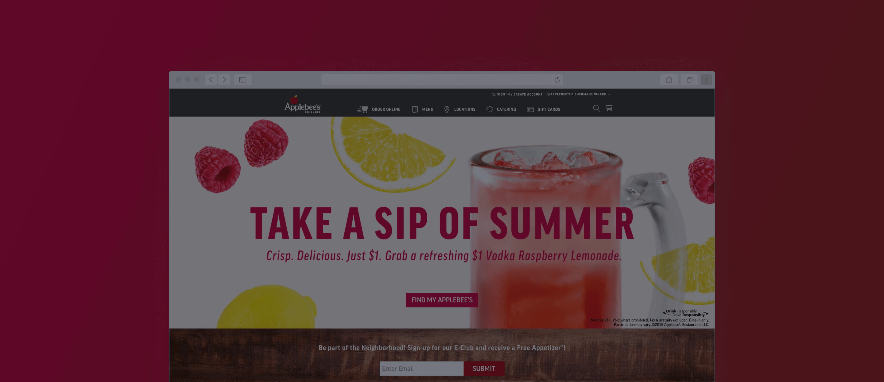 Applebee's Website by ArcTouch