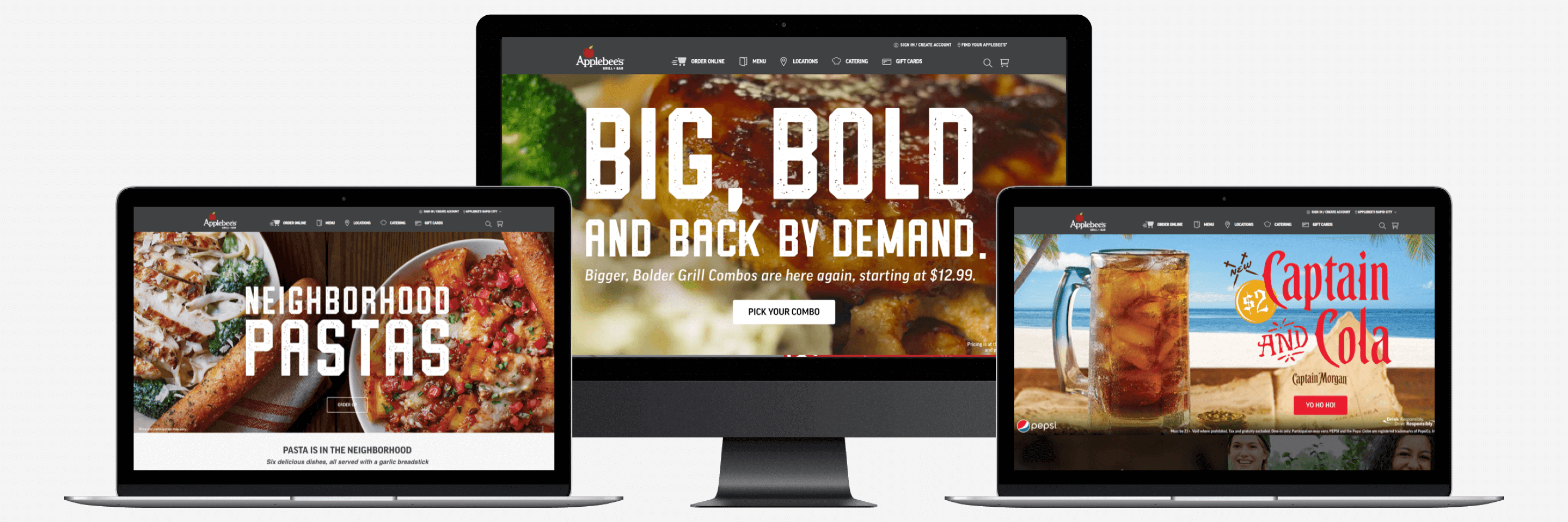 Responsive web site for Applebee's from ArcTouch