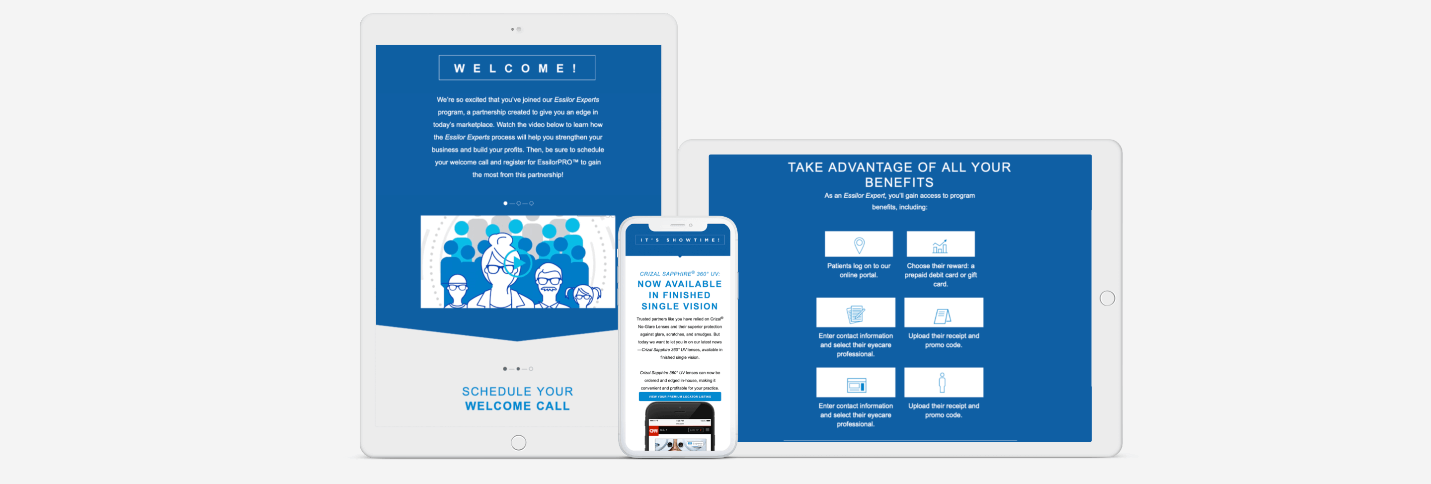 Responsive email marketing templates for Essilor by ArcTouch