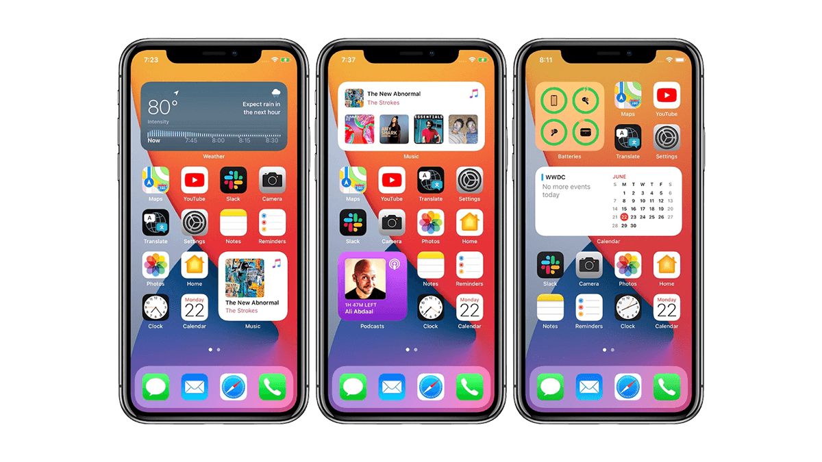 iOS 14 Widgets Home Screen Examples
