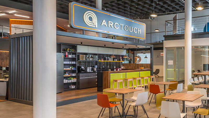 ArcTouch Brasil kitchen recycled shipping container