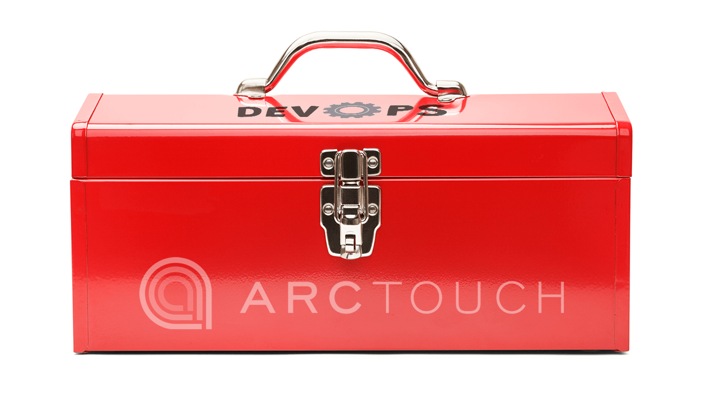 red toolbox with ArcTouch DevOps tools