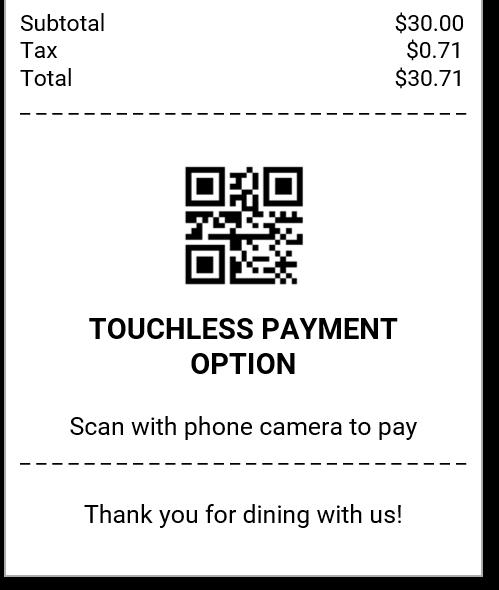 Contactless Payment QR Code